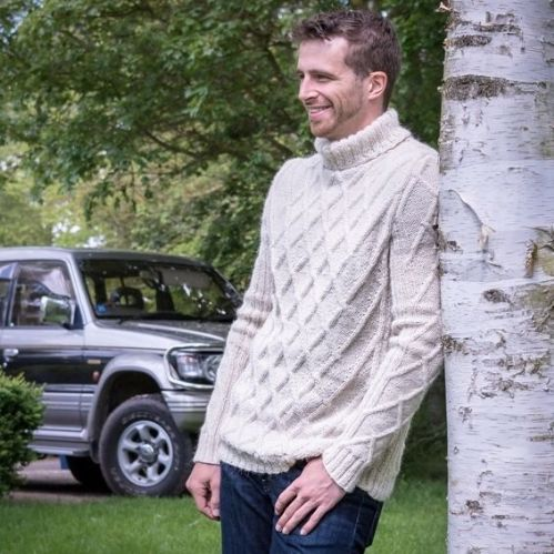 Milo Cable Jumper with Roll Neck